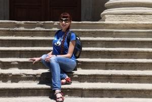 На ступеньках базилики